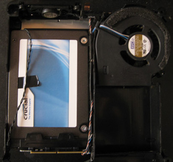 Installing a Crucial M4 of 256 Gb